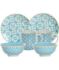 Frühstück-Set Porzellan 6 Teile MAKINA RITZENHOFF & BREKER blau