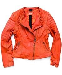 Damen Lederjacke Lumi MAZE orange M,S,XL,XS
