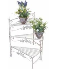HOME AFFAIRE Blumenständer Treppe weiß