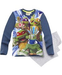 Ninja Turtles Pyjama grau in Größe 116 für Jungen aus Vorderseite: 100% polyester Ärmel: 100% Baumwolle 95% Baumwolle 5% Viskose