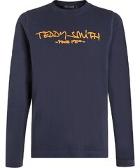 Teddy Smith TICLASS Langarmshirt dark blue/ russet orange