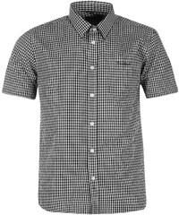 Pierre Cardin Košile Short Sleeve - kostkovaná černá/bílá