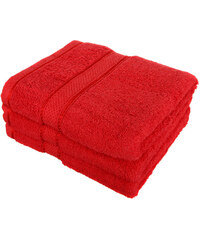 YooY Froté ručník se vzorem Menheten červená
