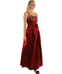 e6413a64083 TopMode Dlouhé večerní šaty se zlatou výšivkou a květinovou aplikací ( červená