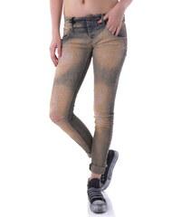 Woman Jeans Sexy Woman 59766 - XS / Světle hnědá