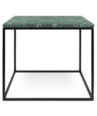 Konferenční stolek Gleam 50 cm, zelený mramor + černá podnož