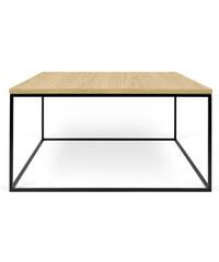 Konferenční stolek Gleam 75 cm, dub + černá podnož