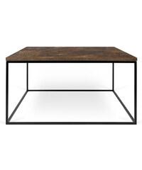 Konferenční stolek Gleam 75 cm, hnědá deska + černá podnož