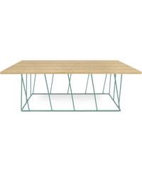 Konferenční stolek Helix 120 cm, dub + zelená podnož