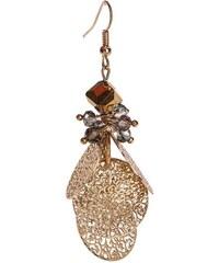 Boucles d'oreilles métal doré perles Jaune Metal - Femme Taille T.U - Cache Cache