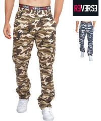 Re-Verse Pantalon avec motif camouflage