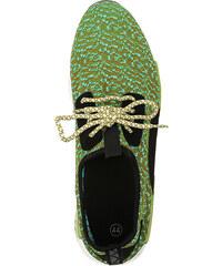 Lesara Textil-Sneaker mit Muster - Neongrün - 39