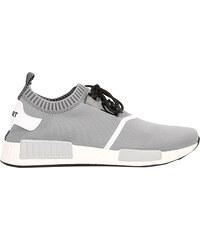 Lesara Textil-Sneaker mit elastischem Einstieg - Grau - 39