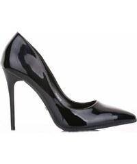 Ideal Shoes Elegantní dámské lodičky Metalic černý