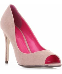Ideal Shoes dámské polobotky béžové