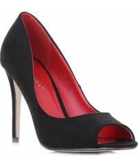Ideal Shoes dámské polobotky černé