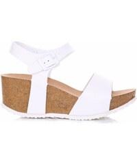 Ideal Shoes Dámské boty na platformě bílé