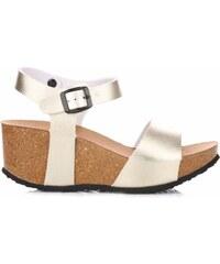 Ideal Shoes Dámské boty na platformě zlaté
