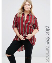 Alice & You - Chemise longue à rayures - Rouge