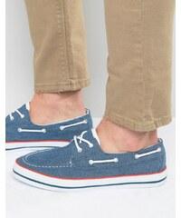 ASOS - Chaussures bateau en chambray - Bleu - Bleu