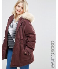 ASOS CURVE - Ultimativer Parka - Rot