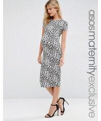 ASOS Maternity - Robe moulante imprimé léopard - Multi