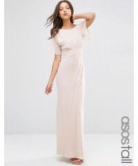 ASOS TALL WEDDING - Robe longue fluide - Rose