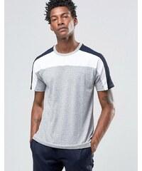 Celio - T-shirt ras de cou avec empiècement color block - Gris