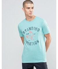 Celio - T-shirt ras du cou à imprimé graphique - Vert
