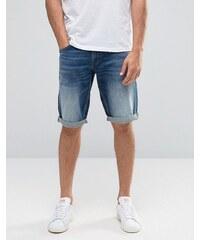 Celio - Short en jean délavage vintage - Bleu marine