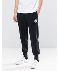 Converse - 10002135-A02 - Pantalon de jogging à bords-côtes et écusson - Noir - Noir