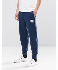 Converse - 10002135-A03 - Pantalon de jogging à bords-côtes et écusson - Bleu - Bleu