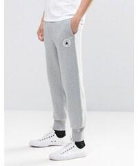 Converse - 10002135-A01 - Pantalon de jogging à bords-côtes et écusson - Gris - Gris