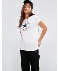 Converse - T-shirt classique avec logo - Blanc - Blanc