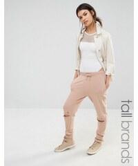 Missguided Tall - Jogginghose mit Knien im Distressed-Look - Bronze