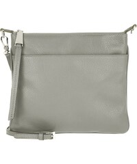 Abro Sacs à Bandoulière, Adria Calf Leather Crossbody Bag Grey en gris