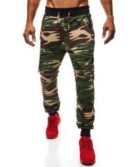 Zelené pánské velmi moderní kalhoty ATHLETIC 724