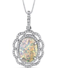 Eppi Stříbrný květ s opálem v náhrdelníku Gloria