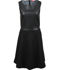 s.Oliver Materialmix-Kleid mit Kunstleder