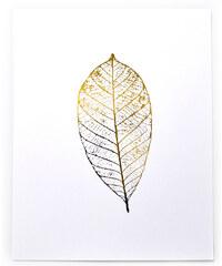 Swell Made Co. Affiche Imprimée - Feuille d'Or Métallisée