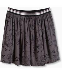 Esprit Splývavá sukně s levhartím potiskem