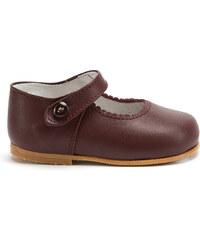 Chaussures à lacets semelle rigide grenat