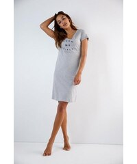 SKINY Skiny Meliertes Sleepshirt mit Frontschriftzug blau 36,38,40,42,44