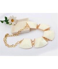 Lodestar Masivní bílý geometrický náhrdelník