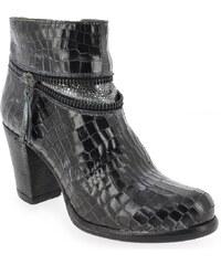 Boots Femme Life en Cuir Noir
