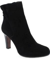 Boots Femme Rosemetal en Cuir velours Noir