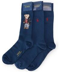 POLO Ralph Lauren Dreierpack blaue Socken Teddy Bear