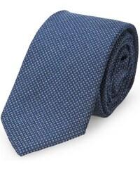 Calvin Klein Schwarz-blaue Krawatte mit kleinem Karomuster