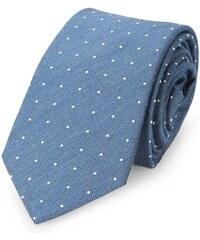 Calvin Klein Blaue Krawatte mit Punktmuster