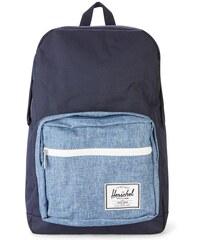 HERSCHEL Marineblauer und blauer Rucksack mit weißem Reißverschluss Pop Quiz 22 Liter
